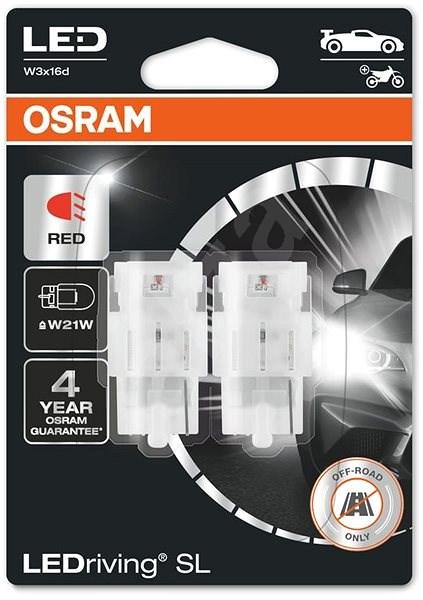 OSRAM LEDriving SL W21W Červená 12V dva kusy v balení - LED žárovka