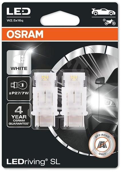 OSRAM LEDriving SL P27/7W Studeně bílá 6000K 12V dva kusy v balení - LED žárovka