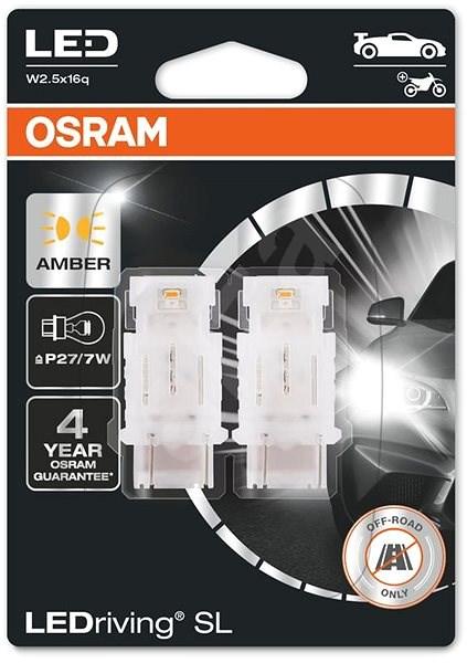 OSRAM LEDriving SL P27/7W Žlutá 12V dva kusy v balení - LED žárovka