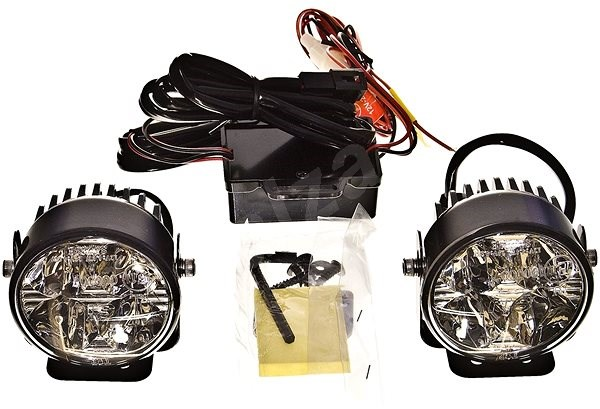 ACI přídavná světla LED pro denní sv. (12 V / 24 V) průměr 70 mm sada - Světlo pro denní svícení