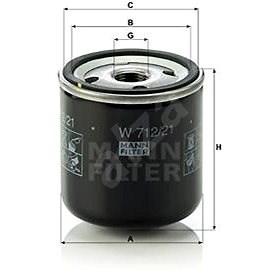 MANN-FILTER W712/21 pro vozy TALBOT - Olejový filtr