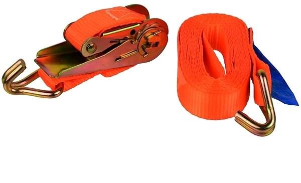 GEKO Popruh upínací s ERGO ráčnou a hákem, 4m/1T/25mm - Upínací popruh