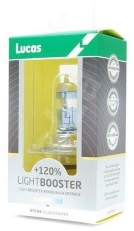 LUCAS LightBooster H4 12V 60/55W +120% 2ks - Autožárovka