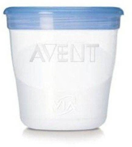 Philips AVENT VIA pohárky 240 ml - 5 ks - Sada dóz