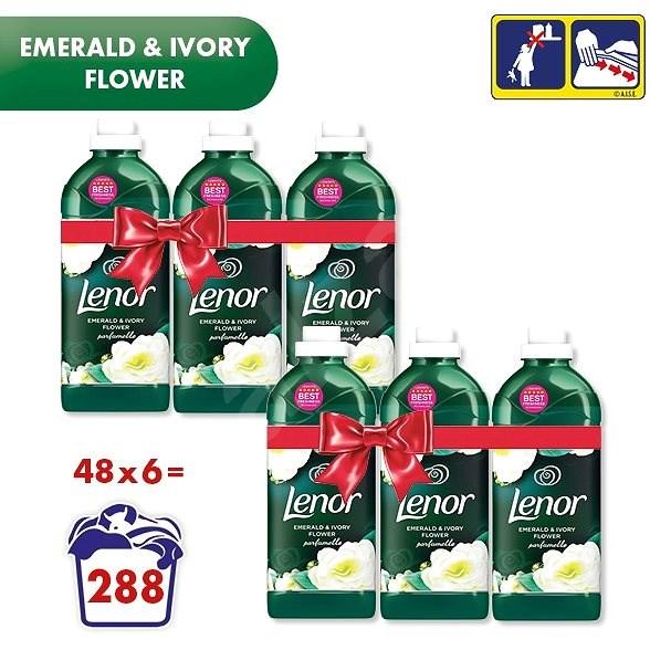 LENOR Emerald&Ivory Flowers 6× 1,42 l (282 praní) - Aviváž