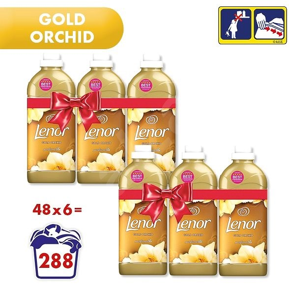 LENOR Gold Orchid 6× 1,42 l (282 praní) - Aviváž