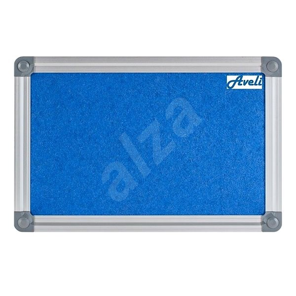 AVELI 45x60cm modrá, hliníkový rám - Nástěnka