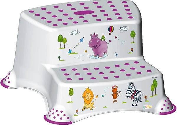 KEEEPER Dvojstupínek HIPPO - bílý - Stupátko