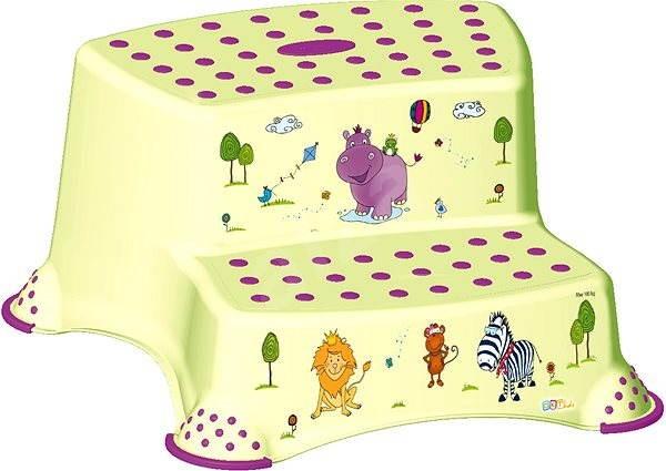 KEEEPER Dvojstupínek HIPPO - zelený - Stupátko