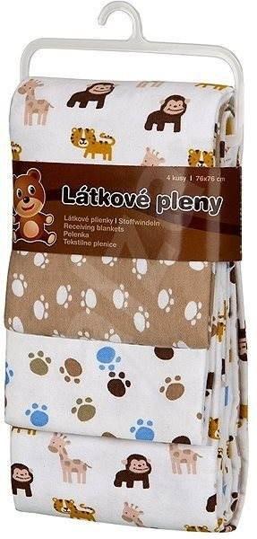 T-tomi Pleny látkové - opice (4 ks) - Látkové pleny