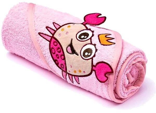 Sensillo osuška s kapucí - růžová - Dětská osuška