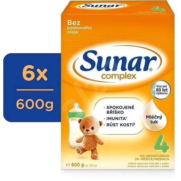 Sunar Complex 4 Batolecí kojenecké mléko 6× 600 g - Kojenecké mléko