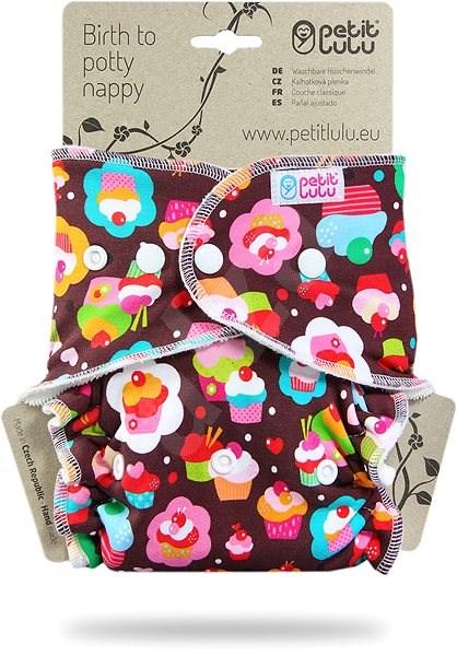 PETIT LULU  Kalhotková plena pat - dortíčky - Plenkové kalhotky