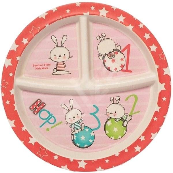ZOPA Bambusový dělený talířek s přísavkou Rabbits - Talíř