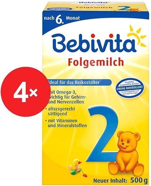 Bebivita 2 - 4× 500 g - Kojenecké mléko