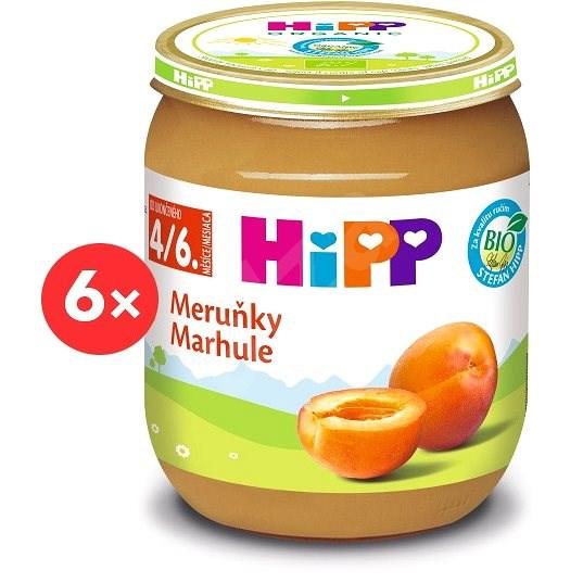 HiPP BIO Meruňky - 6× 125 g - Příkrm