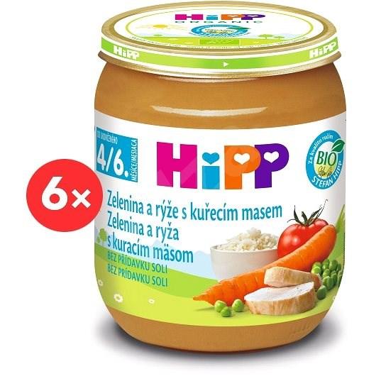 HiPP BIO Zelenina a rýže s kuřecím masem - 6× 125 g - Příkrm