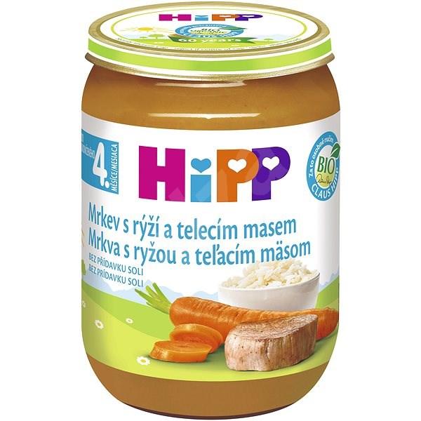 HiPP BIO Mrkev s rýží a telecím masem - 6× 190 g - Příkrm