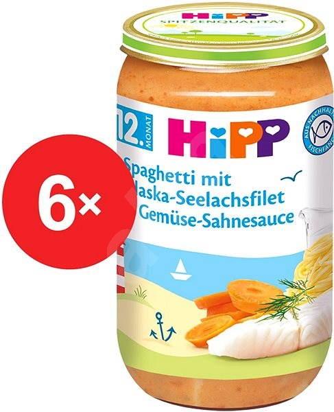 HiPP Špagety s mořskou rybou a zeleninou ve smetanové omáčce - 6× 250 g - Dětský příkrm