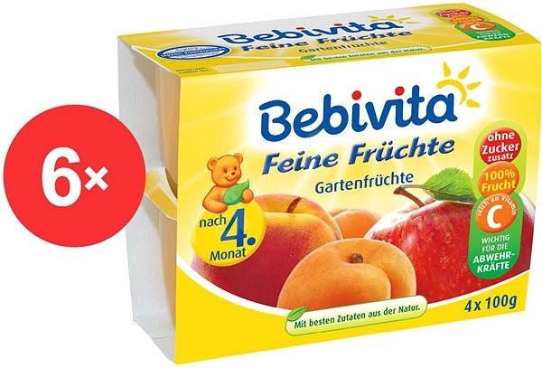 Bebivita Jemná ovocná směs - 6× (4× 100 g) - Dětský příkrm