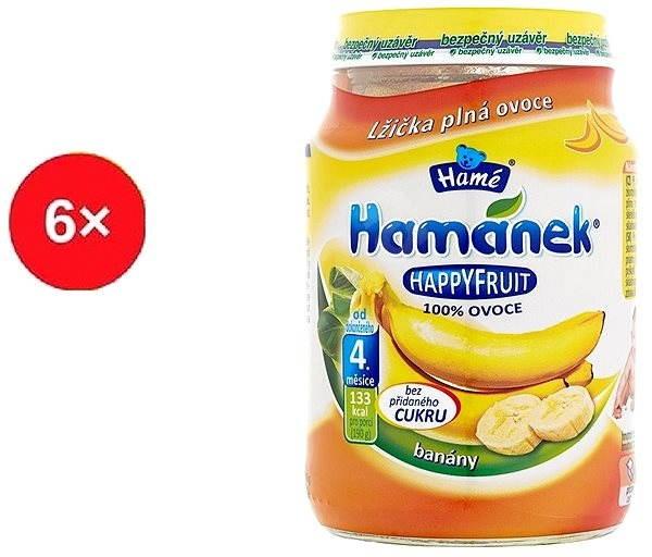 Hamánek Happy Fruit s banány 6× 190 g - Dětský příkrm