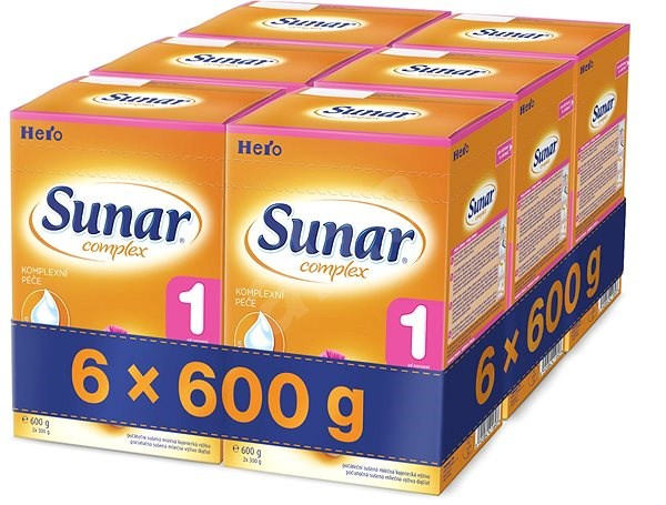 Sunar Complex 1 - 6× 600 g - Kojenecké mléko