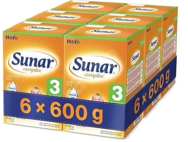 Sunar Complex 3 - 6× 600 g - Kojenecké mléko
