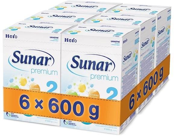 Sunar Premium 2 - 6× 600 g - Kojenecké mléko