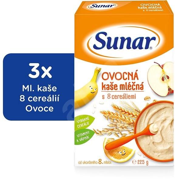 Sunárek ovocná kašička - 3× 225 g - Mléčná kaše