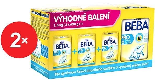 Nestlé BEBA OPTIPRO 2 - 2× (3× 600 g) - Kojenecké mléko
