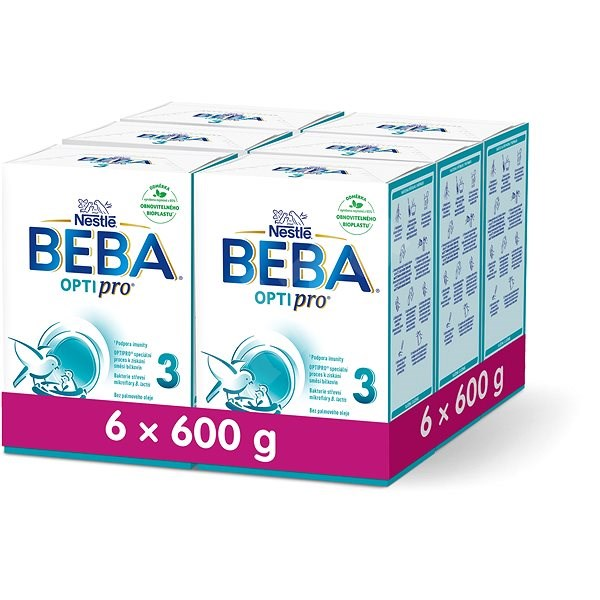 BEBA OPTIPRO 3 (6× 600 g) - Kojenecké mléko