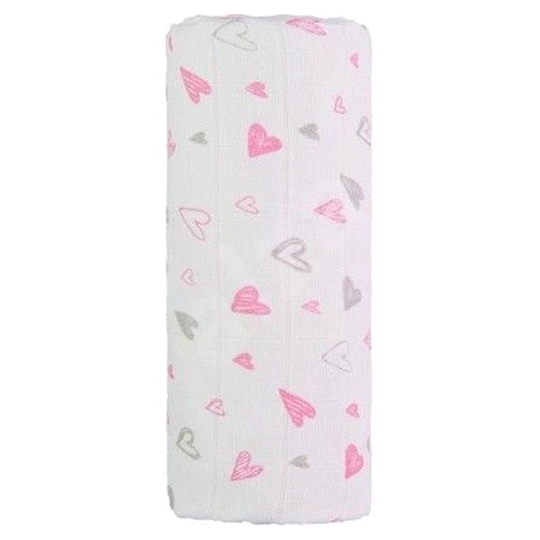 T-tomi TETRA osuška Pink Hearts - Dětská osuška