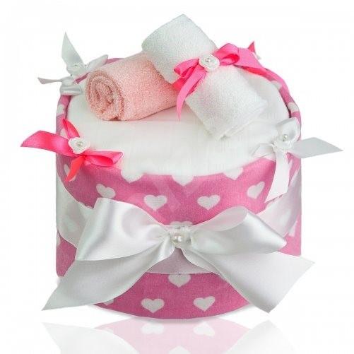 T-tomi Plenkový dort LUX - velká srdíčka - Plenkový dort