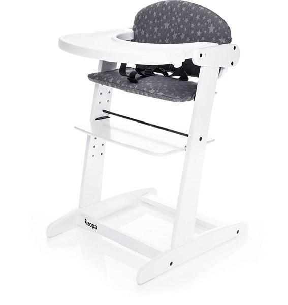 Zopa Grow-up Bílá - Jídelní židlička