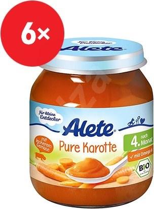 ALETE BIO Příkrm mrkev 6× 125 g  - Příkrm