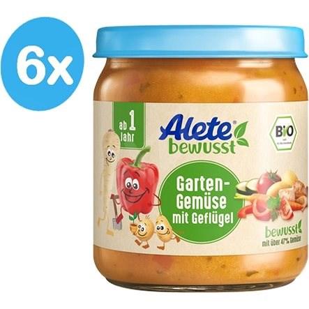 ALETE BIO Příkrm Zahradní zelenina s drůbežím masem 6× 250 g - Dětský příkrm