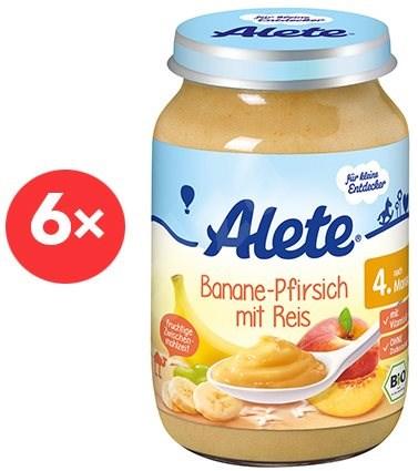 ALETE BIO Příkrm Banán s broskví a rýží  6× 190 g  - Dětský příkrm