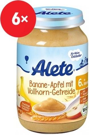 ALETE BIO Příkrm Banán s jablky a celozr. obil. 6× 190 g - Dětský příkrm