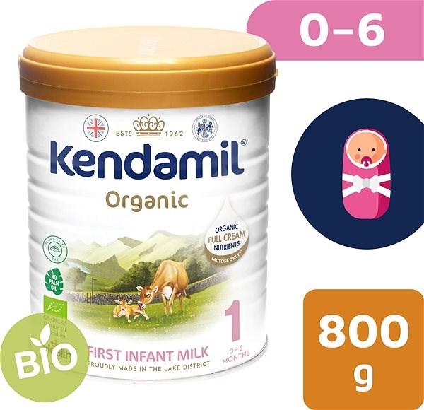 Kendamil 100% BIO plnotučné kojenecké mléko 1, 800 g - Kojenecké mléko