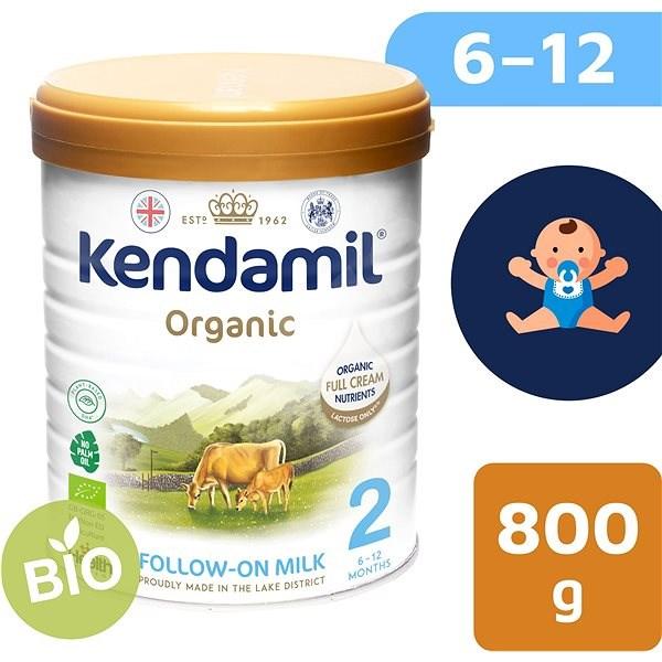 Kendamil 100% BIO plnotučné kojenecké mléko 2, 800 g - Kojenecké mléko