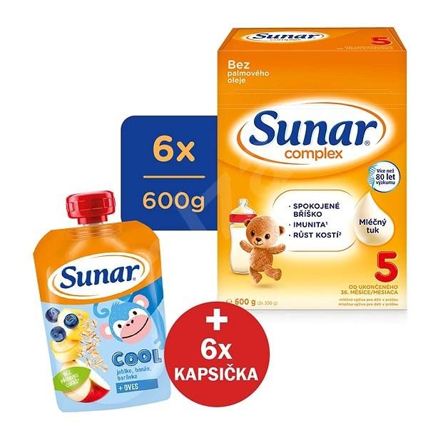 Sunar Complex 5 - 6× 600 g + Sunárek mléčná kaše na dobrou noc - Kojenecké mléko