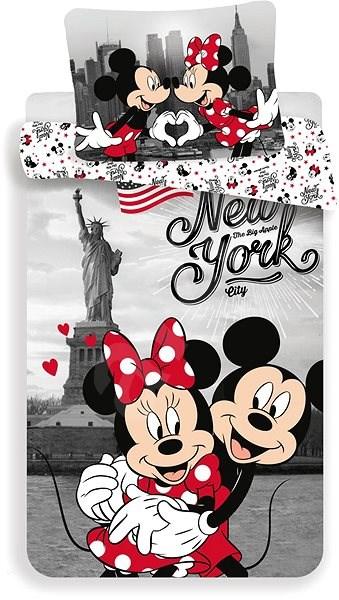 """Jerry Fabrics ložní povlečení - Mickey&Minnie in New York """"Love"""" - Dětské povlečení"""
