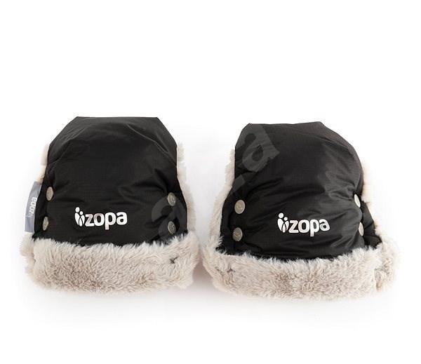 Zipper Winter Fluffy Gloves - Black - Gloves
