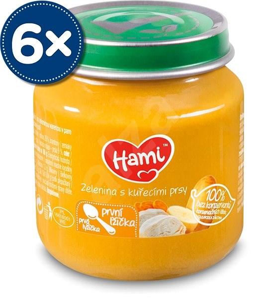 Hami První lžička Zelenina s kuřecími prsy 6× 125 g - Příkrm