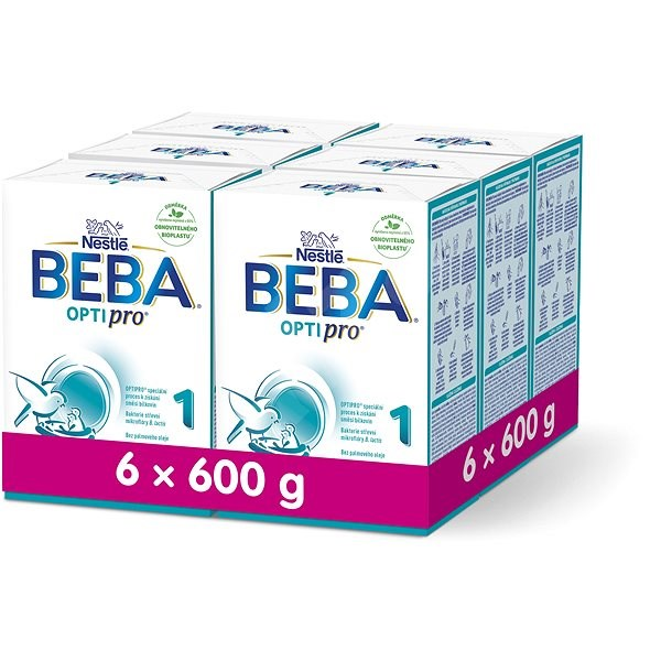BEBA OPTIPRO 1 (6× 600 g) - Kojenecké mléko