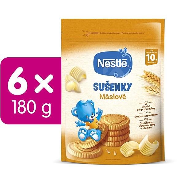 NESTLÉ JUNIOR Máslové Sušenky 6× 180 g - Sušenky pro děti