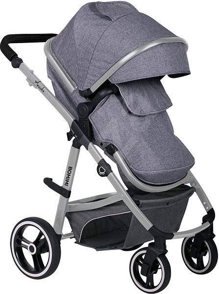 BOMIMI AMADEO 2v1 - steel grey - Kočárek