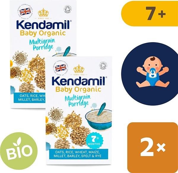 Kendamil Bio/organická vícezrnná kaše 2× 150 g - Nemléčná kaše
