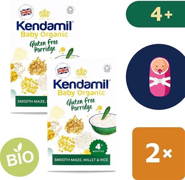 Kendamil Bio/organická bezlepková kaše 2× 150 g - Nemléčná kaše