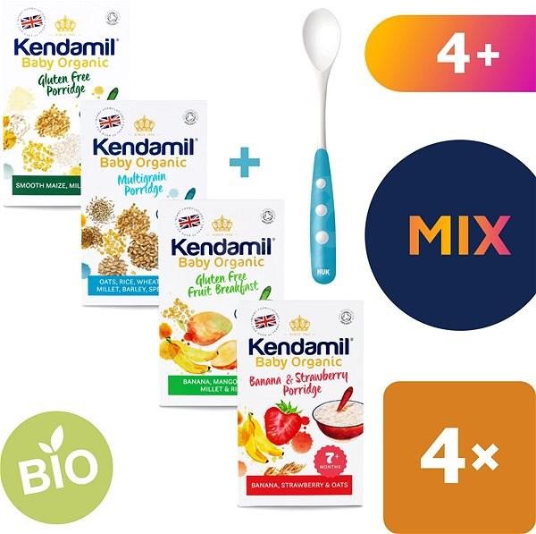 Kendamil variace Bio/organic kojeneckých kaší 4× 150 g - Nemléčná kaše